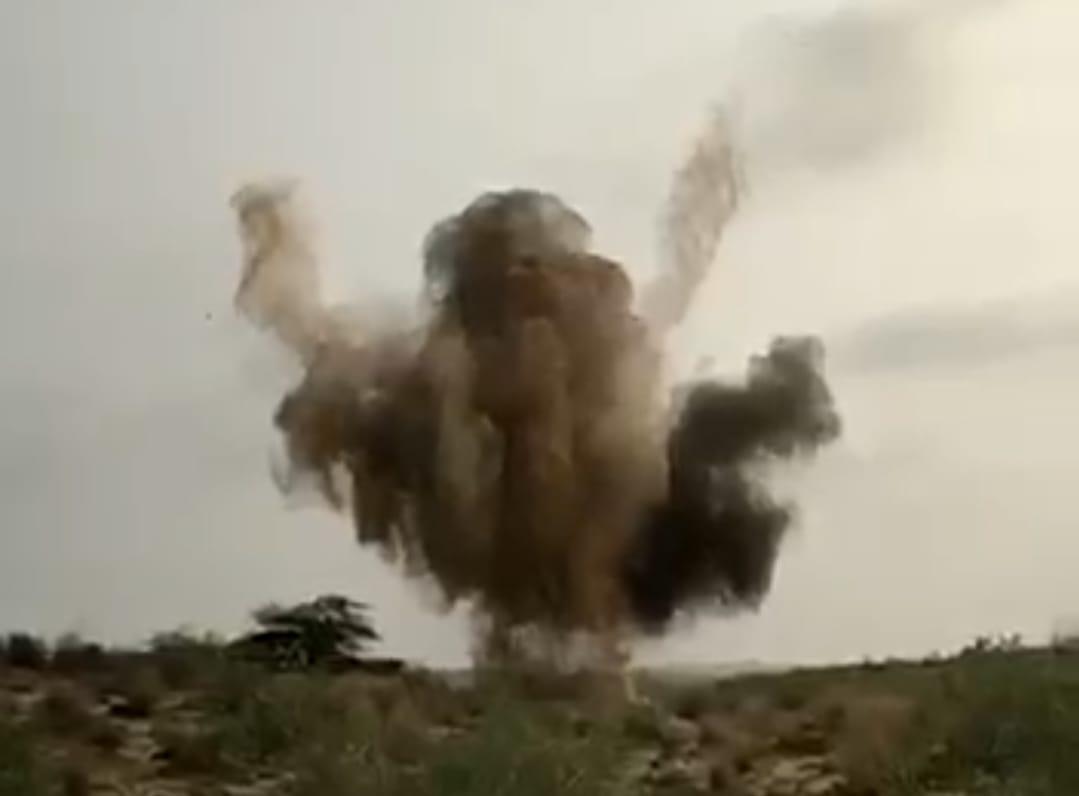 बम फटने के आवाज सुन सहम गए आसपास के लोग, मिट्टी का गुब्बार इतना ऊंचा उठा कि दूर से भी नजर आया बीकानेर,Bikaner - Dainik Bhaskar