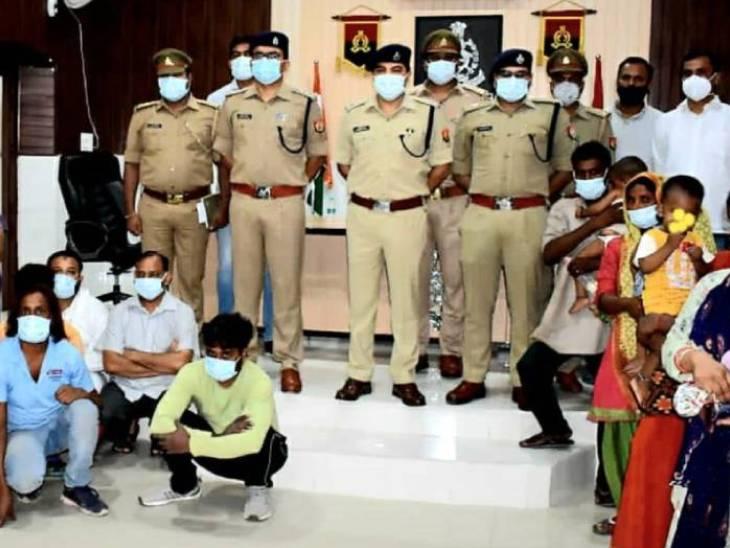 अलीगढ़ पुलिस ने ऑपरेशन खुशी के तहत रविवार रात छापेमारी करके बच्चा चोरी का पर्दाफाश किया था। - Dainik Bhaskar