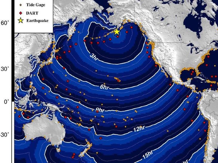 8.2 तीव्रता के झटके से थर्राया अलास्का, सुनामी की चेतावनी जारी|विदेश,International - Dainik Bhaskar