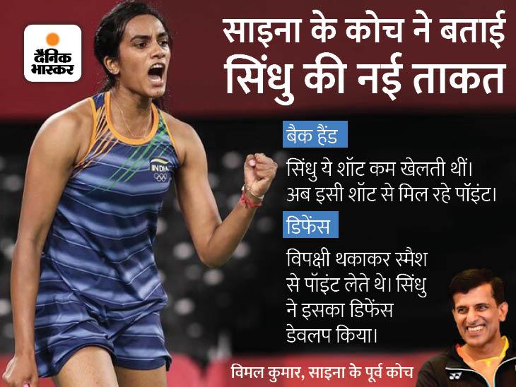कोच विमल बोले- बेहतर डिफेंस, कॉन्फिडेंस और जोरदार बैक हैंड ने सिंधु को बनाया गोल्ड का दावेदार|टोक्यो ओलिंपिक,Tokyo Olympics - Dainik Bhaskar