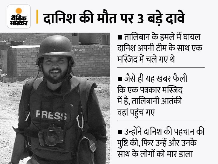 तालिबान ने भारतीय फोटो जर्नलिस्ट दानिश सिद्दीकी को जिंदा पकड़ा था, पहचान जाहिर होने के बाद बेरहमी से की हत्या|विदेश,International - Dainik Bhaskar