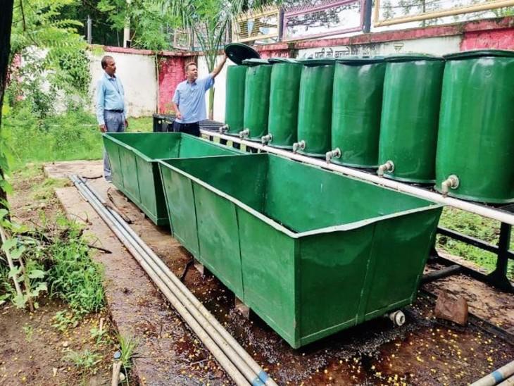 रेलवे कोच फैक्टरी के मेस से निकलने वाले ग्रीन वेस्ट से हर महीने बन सकेगी 2 क्विंटल सॉलिड और 15 हजार लीटर लिक्विड खाद भोपाल,Bhopal - Dainik Bhaskar
