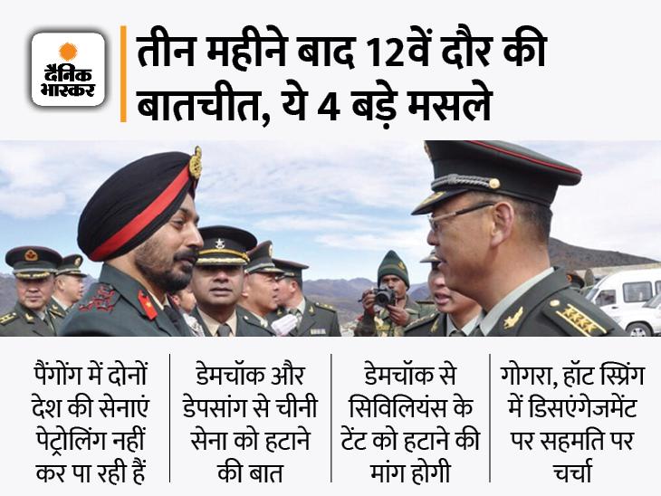 लद्दाख में तनाव पर भारत-चीन के आर्मी कमांडरों के बीच बातचीत खत्म, 9 घंटे चली मीटिंग देश,National - Dainik Bhaskar