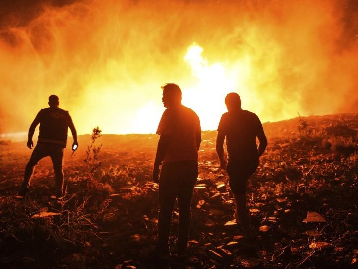 आग में बुजुर्ग समेत 4 की मौत, 58 अस्पताल में भर्ती, 20 गांवों को खाली कराया गया विदेश,International - Dainik Bhaskar