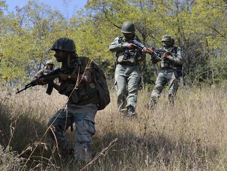 नागबेरन-तरसर के जंगलों में कुछ आतंकियों के छिपे होने की सूचना मिलने पर सर्चिंग शुरू की गई थी। इस दौरान सुरक्षा बलों पर फायरिंग शुरू हो गई। इस पर सुरक्षा बलों को जवाबी कार्रवाई करनी पड़ी। - Dainik Bhaskar