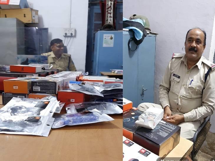 जबलपुर में कंपनी की शिकायत पर दो दुकानों में दबिश, स्पीकर व हेडफोन जब्त|जबलपुर,Jabalpur - Dainik Bhaskar