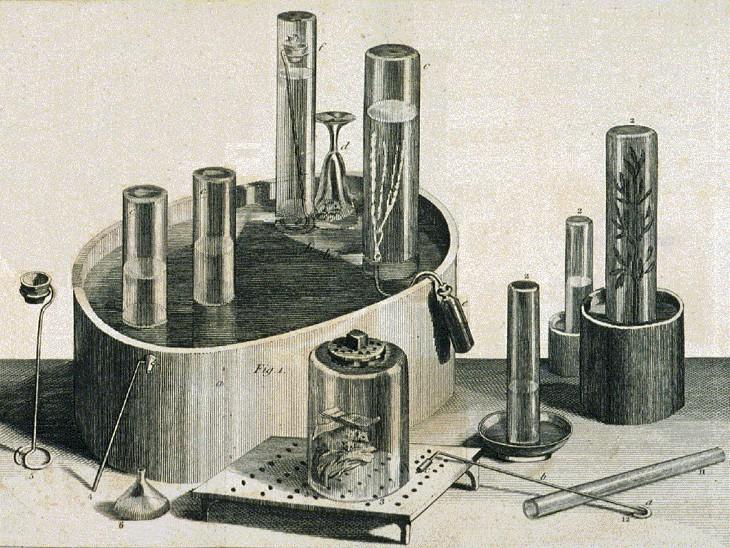 गैसों पर एक्सपेरिमेंट के लिए बनाया गया जोसेफ का इंस्ट्रूमेंट कुछ इस तरह दिखता था।