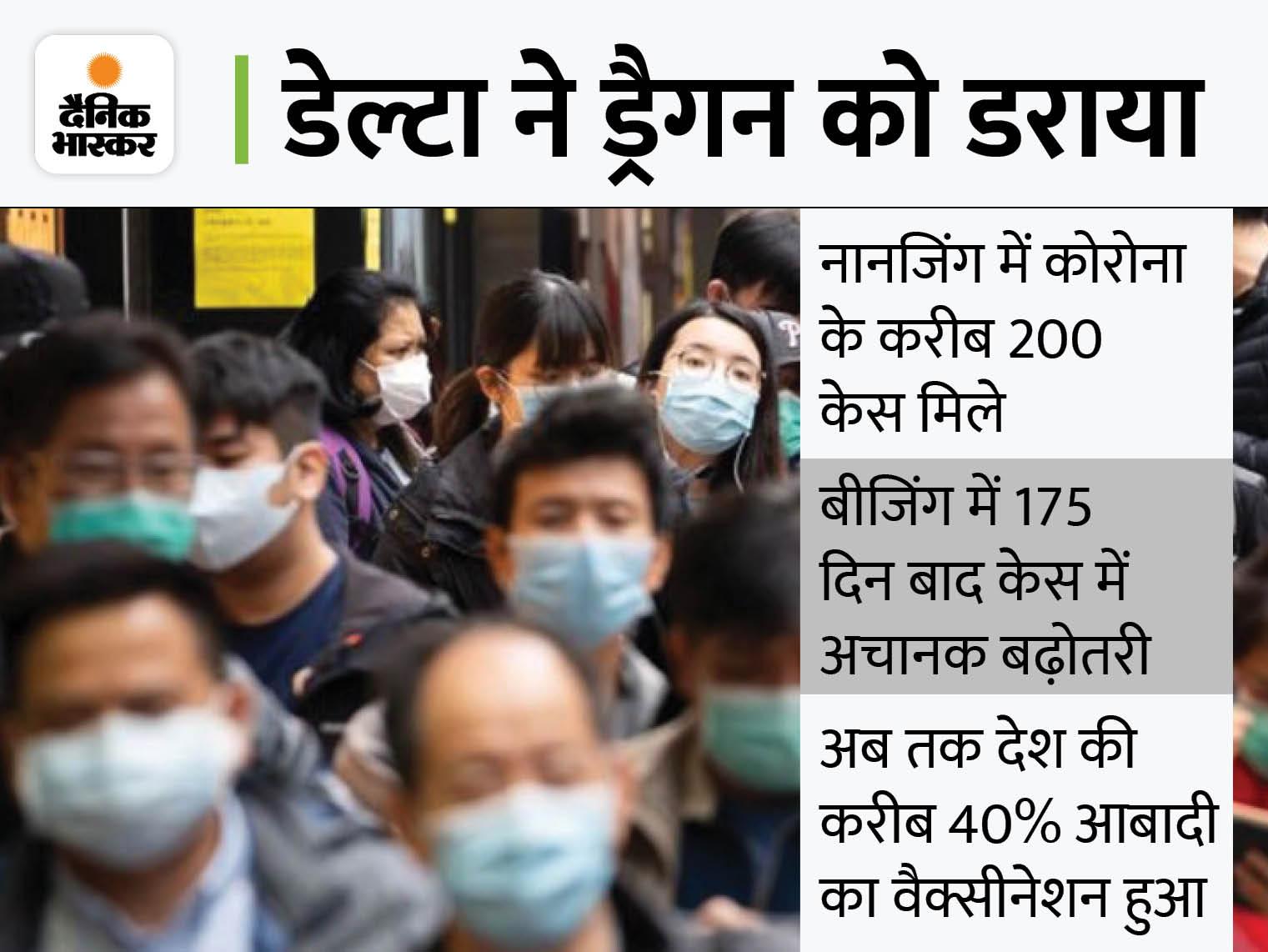 15 शहरों में डेल्टा वैरिएंट के मामले बढ़े, नानजिंग एयरपोर्ट का स्टाफ संक्रमित होने से सभी फ्लाइट सस्पेंड विदेश,International - Dainik Bhaskar