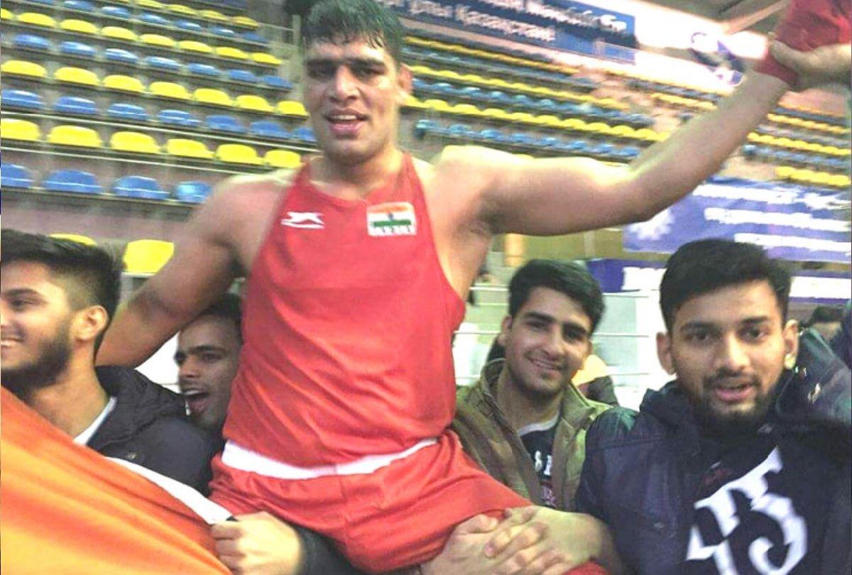 सतीश ने क्वालीफाइंग राउंड में 91 किलो वर्ग के अंतिम-16 में 4-1 से जीत हासिल की थी।