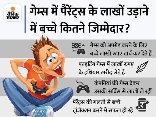 ऑनलाइन गेम्स में बच्चे कैसे कर रहे बड़े ट्रांजैक्शन, पैरेंट्स उन्हें कैसे रोकें? एक्सपर्ट से समझें टेक & ऑटो,Tech & Auto - Dainik Bhaskar