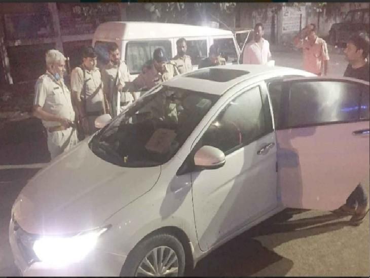 होटल के सामने पार्किंग से चली गोली, युवक घायल, दो पुलिस जवानों पर गोली मारने का आरोप, CCTV फुटेज से होगा खुलासा|ग्वालियर,Gwalior - Dainik Bhaskar
