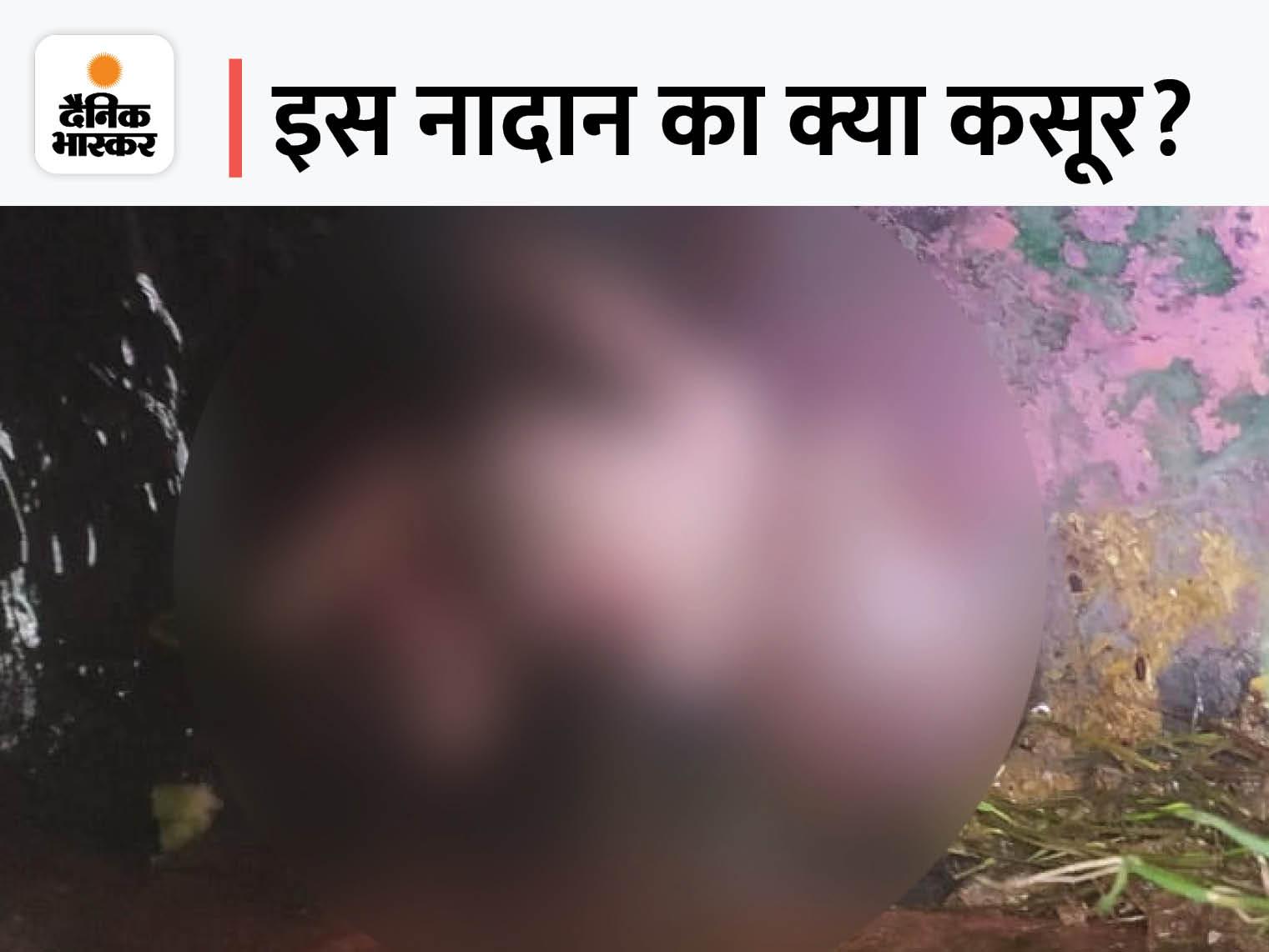 गर्भनाल कटी हुई थी, शरीर पर कई जगह इंजेक्शन के निशान; अस्पताल में जन्म की आशंका, CCTV खंगाल रही पुलिस|लखनऊ,Lucknow - Dainik Bhaskar
