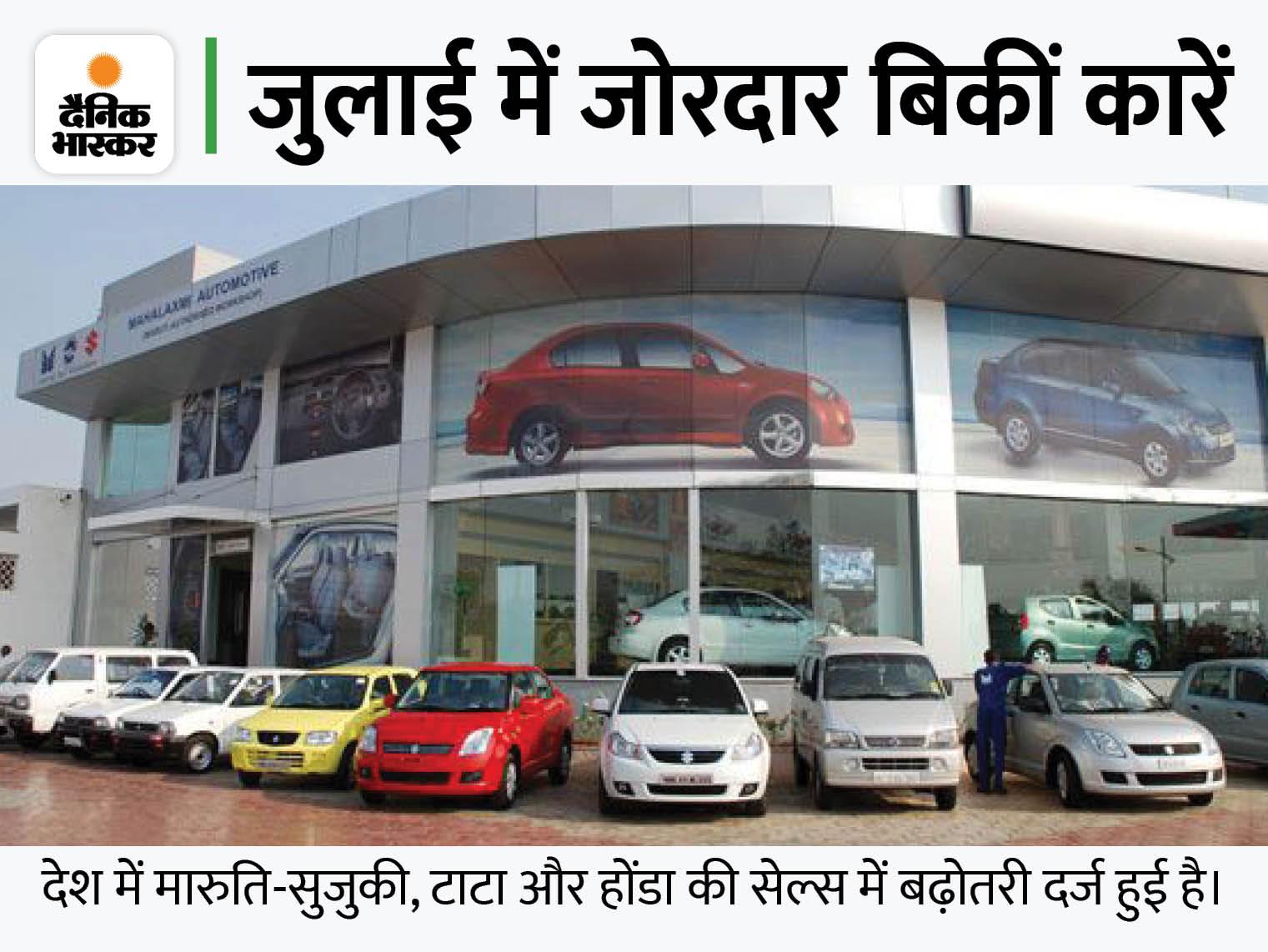 मारुति ने 1.62 लाख, तो टाटा ने 52 हजार कारें बेचीं, होंडा ने डोमेस्टिक सेल्स में 12 साल का रिकॉर्ड तोड़ा|टेक & ऑटो,Tech & Auto - Dainik Bhaskar