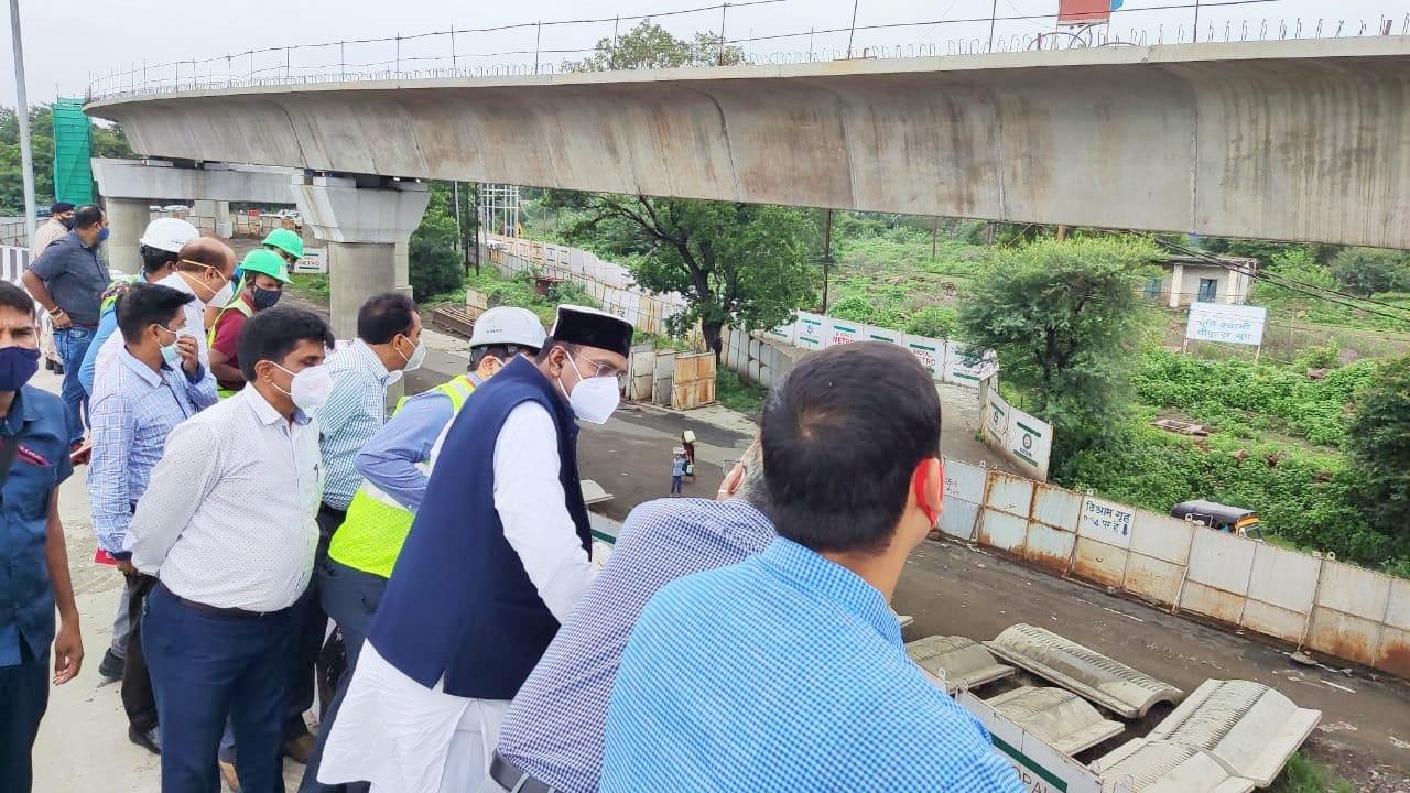मंत्री सारंग ने सुभाष नगर आरओबी का निरीक्षण किया। - Dainik Bhaskar