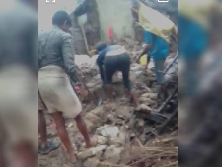 रीवा में सोते समय परिवार पर गिरी दीवार, 4 की मौत, 2 की हालत गंभीर; सिंगरौली में भी 2 भाइयों ने दम तोड़ा|रीवा,Rewa - Dainik Bhaskar