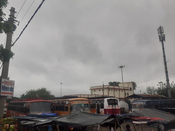 झांसी में बादल छाए हुए हैं।
