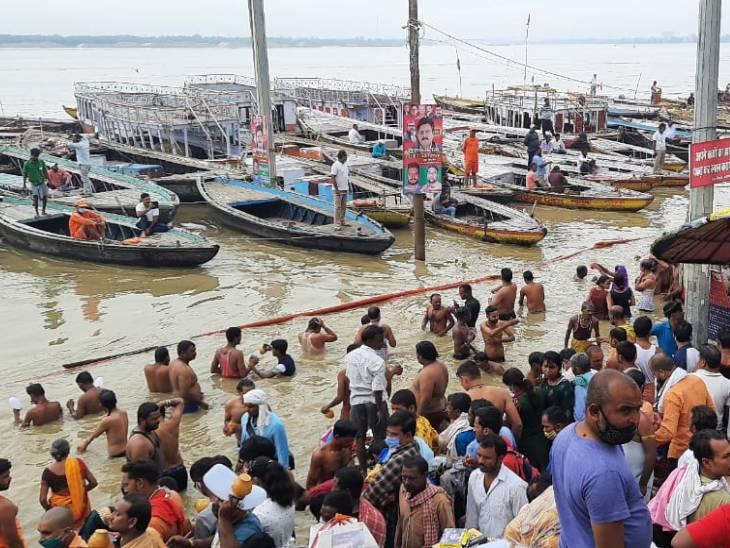 कानपुर, प्रयागराज, वाराणसी समेत कई जिलों में बाढ़ के हालात; गंगा, घाघरा और शारदा नदी खतरे के निशान से ऊपर|लखनऊ,Lucknow - Dainik Bhaskar