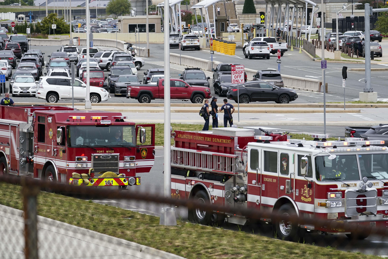 घटना के तुरंत बाद पेंटागन फोर्स प्रोटेक्शन एजेंसी (PFPA) को अलर्ट भेजा गया।