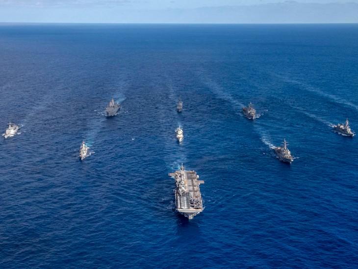 मालाबार नेवी ड्रिल की तैयारी पूरी, प्रशांत महासागर में इकट्ठा होंगी भारत-अमेरिका-जापान और ऑस्ट्रेलिया की नौसेनाएं|विदेश,International - Dainik Bhaskar
