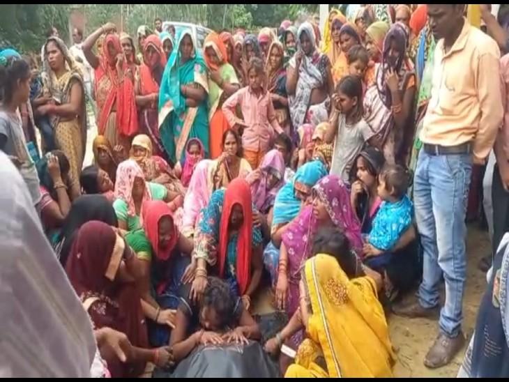 मृतक के बेटे ने लगाया गांव 3 लोगों का हत्या का आरोप, पिता की मौत से परिवार में कोहराम|कन्नौज,Kannauj - Dainik Bhaskar