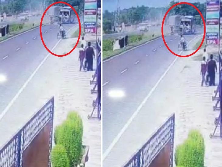 ओवरटेक के दौरान बिगड़ा बैलेंस, ट्रक से टकराई अनियंत्रित कार; BSF कमांडेंट और ड्राइवर की मौके पर ही मौत|लखनऊ,Lucknow - Dainik Bhaskar
