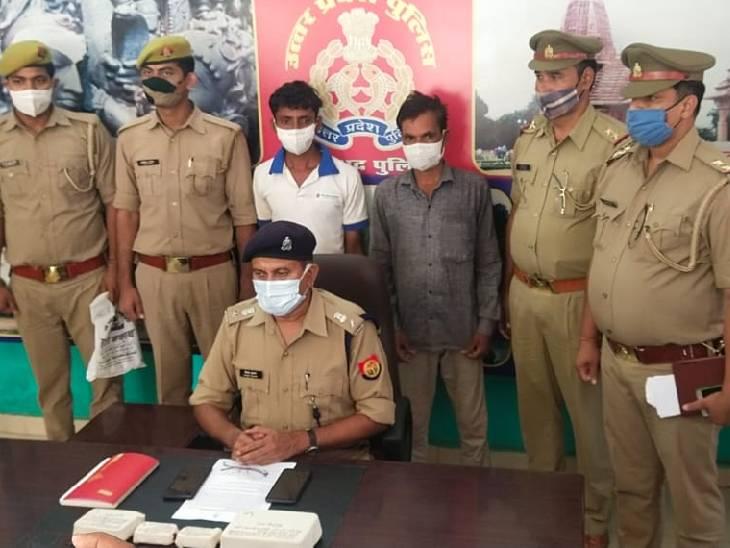 40 लाख की हेरोइन लेकर बाइक से जा रहे थे तस्कर, पुलिस ने घेराबंदी कर दाेनों को दबोचा|मिर्जापुर,Mirzapur - Dainik Bhaskar