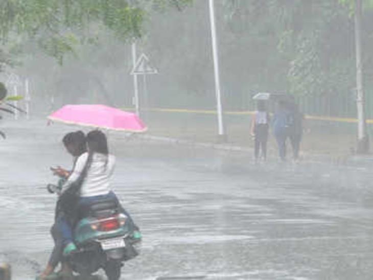 सीजन की सबसे ज्यादा बारिश; 24 घंटे में 80 मिमी बरसे बादल, आज भी ऑरेंज अलर्ट|ग्वालियर,Gwalior - Dainik Bhaskar