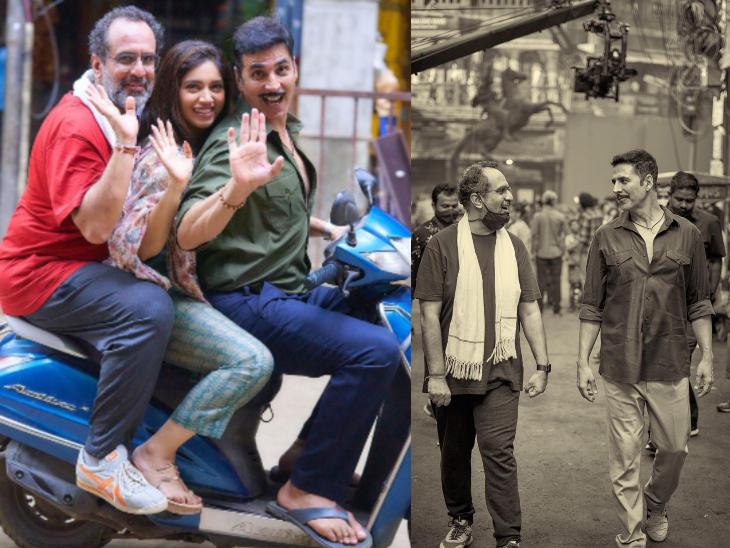 अक्षय कुमार ने 'रक्षाबंधन' के मुंबई शेड्यूल की शूटिंग खत्म की, फिल्म के सेट से फोटोज शेयर कर खुद दी जानकारी|बॉलीवुड,Bollywood - Dainik Bhaskar
