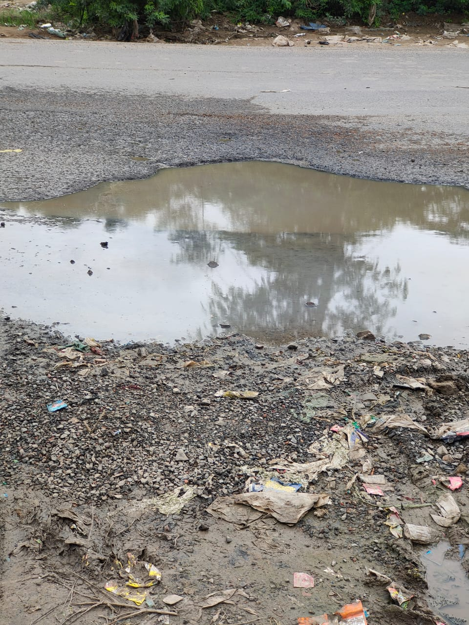 दिल्ली अलवर राष्ट्रीय राजमार्ग पर गड्ढे होने की वजह से बढ़ रही दुर्घटना; नूंह जिले के ग्रामीण व राहगीर हो रहे हैं परेशान|गुड़गांव,Gurgaon - Dainik Bhaskar