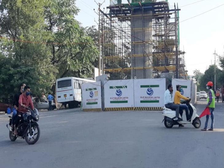 भोपाल में मेट्रो रेल का काम रेलवे की जमीन बीच में आने से अटक गया है। - Dainik Bhaskar