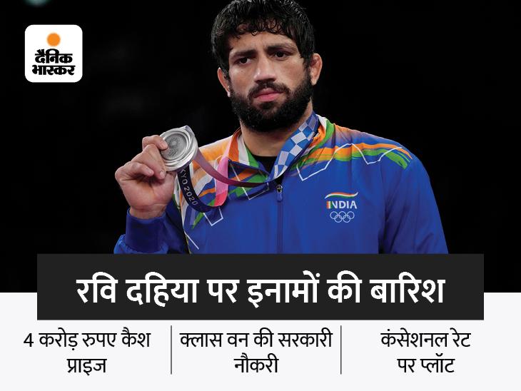 मेडल जीतकर मालामाल हुए भारतीय खिलाड़ी, सरकारी नौकरी से लेकर मिला करोड़ों रुपए का प्राइज|देश,National - Dainik Bhaskar