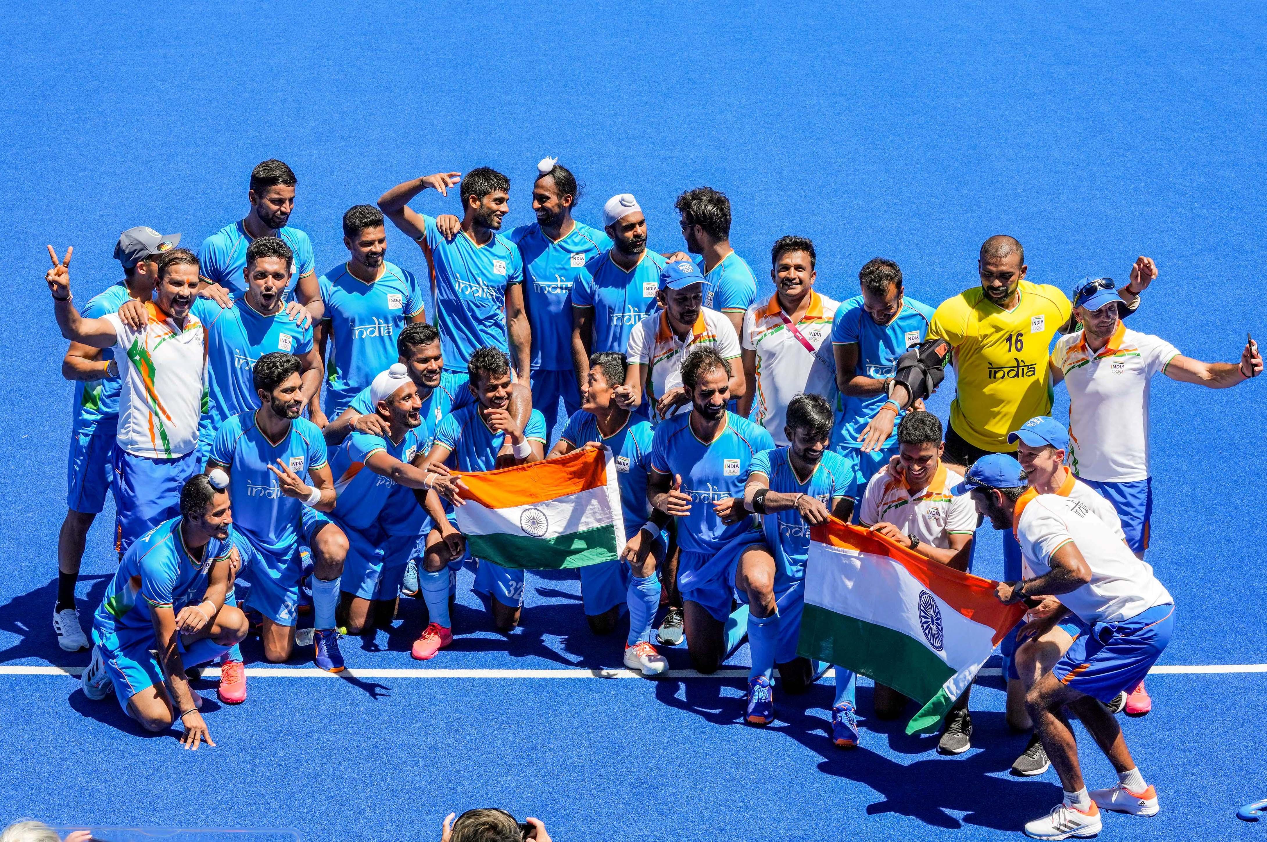 भारतीय पुरुष हॉकी टीम ने 41 साल के सूखे को खत्म किया।