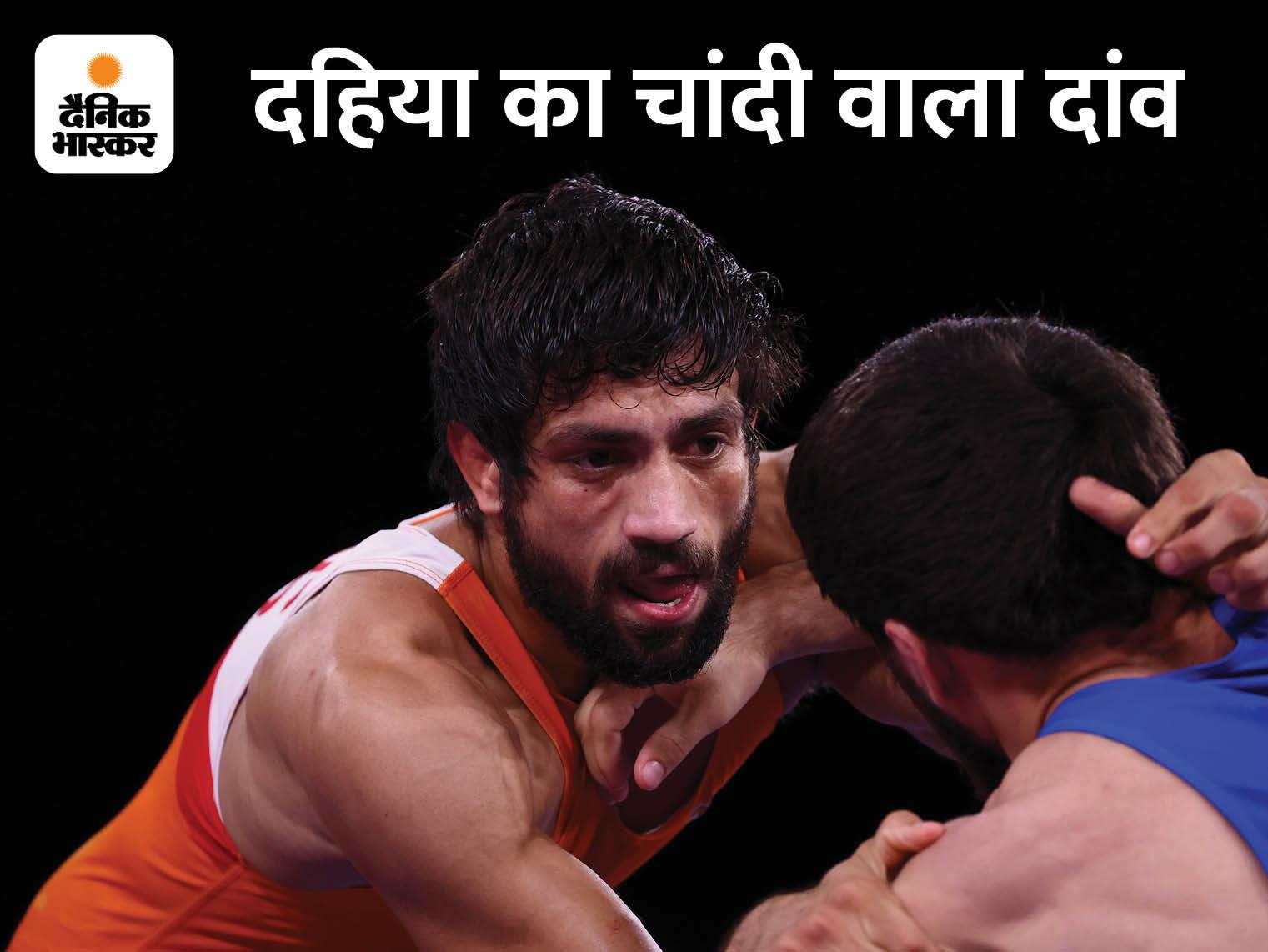 टोक्यो ओलिंपिक में रवि दहिया ने सिल्वर जीता, मोदी ने फोन पर उनसे कहा- ये जीत देश को प्रेरणा देगी|टोक्यो ओलिंपिक,Tokyo Olympics - Dainik Bhaskar