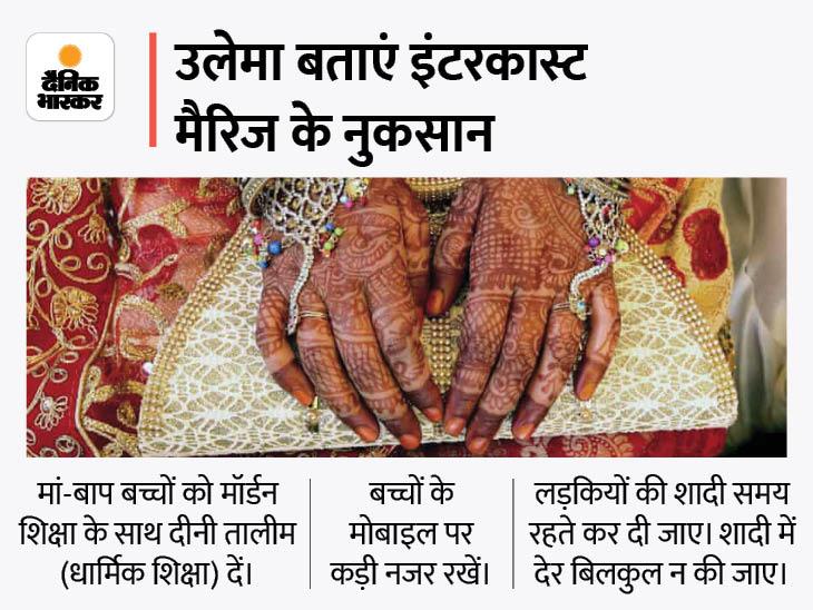 शरीयत में मुसलमानों को दूसरी बिरादरी में शादी की इजाजत नहीं, मां-बाप लड़कियों को को-एड स्कूलों में न भेजें, उनके मोबाइल पर नजर रखें लखनऊ,Lucknow - Dainik Bhaskar