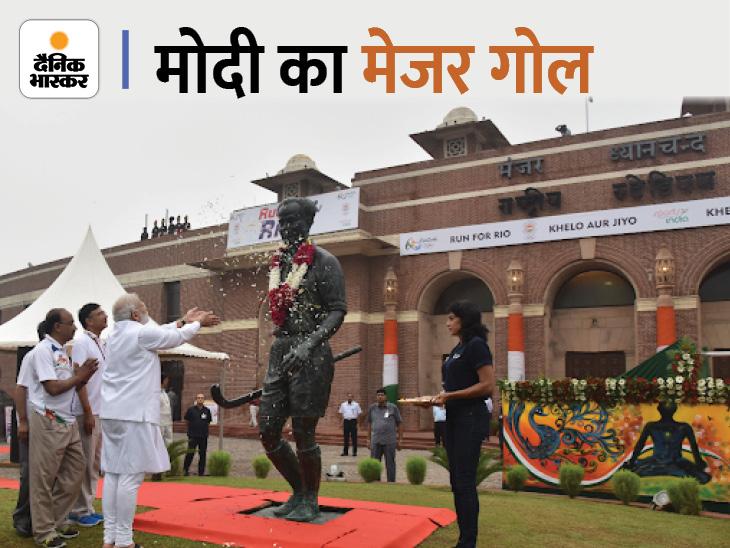 खेल रत्न पुरस्कार से राजीव गांधी का नाम हटा, अब यह ध्यानचंद के नाम से दिया जाएगा देश,National - Dainik Bhaskar
