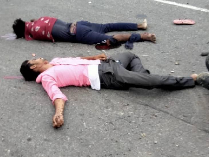 सड़क हादसे में सलीम, रिंकू उर्फ आकाश, पुष्पेंद्र की मौत हो गई।
