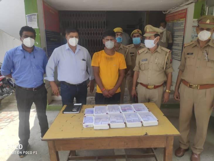 एसबीआई से लूटे थे 20 लाख रुपए, पुलिस ने एक चोर को पकड़ा;अंधेरे का फायदा उठाकर 3 हुए फरार मुरादाबाद,Moradabad - Dainik Bhaskar