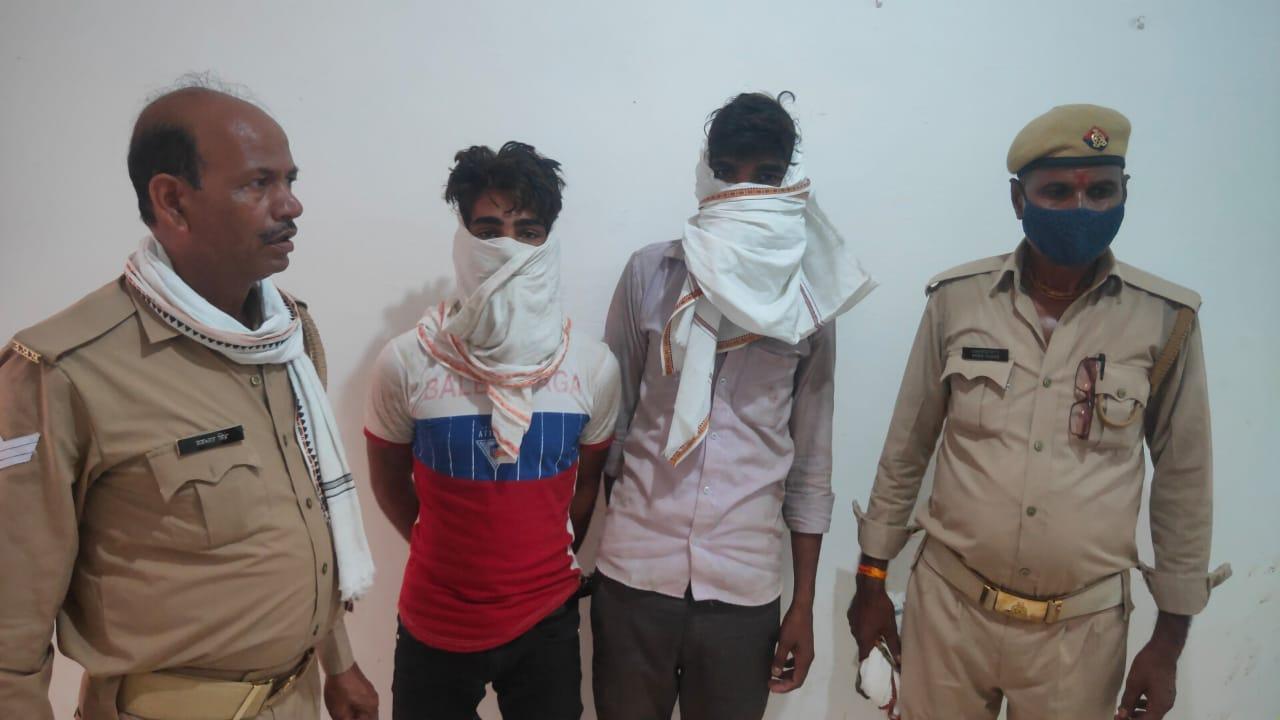 पुलिस की गिरफ्त में बाइक चोर। - Dainik Bhaskar