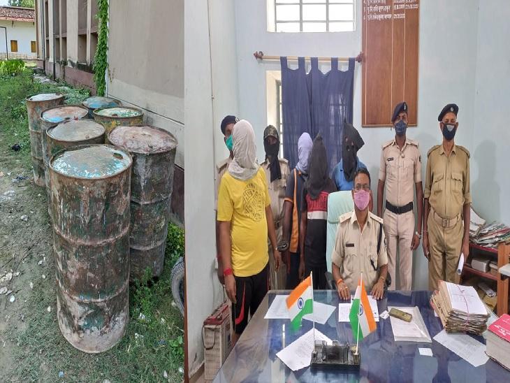 किरासन तेल में केमिकल मिलाकर लोगों को नकली डीजल बेचते थे धंधेबाज, पुलिस ने छापेमारी कर पिकअप वैन सहित 2.5 हजार लीटर किरासन तेल व केमिकल पाउडर किया जब्त|बेतिया (पश्चिमी चंपारण),Bettiah (West Champaran) - Dainik Bhaskar