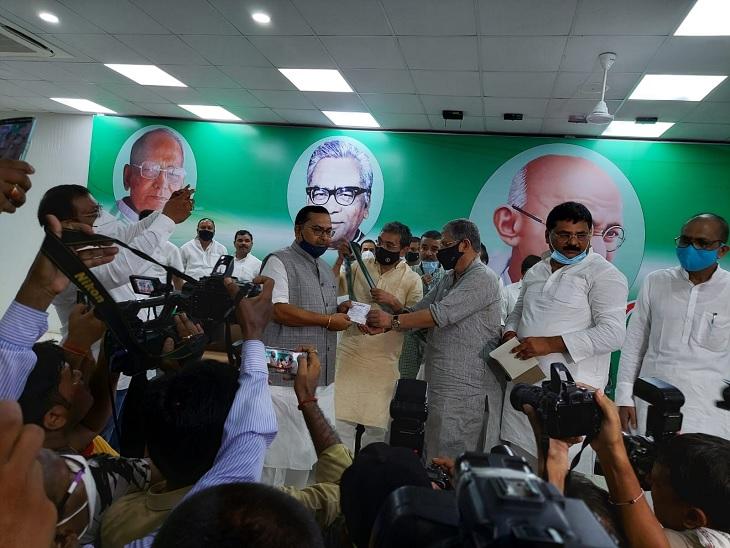 LJP से JDU में शामिल हुए भगवान सिंह कुशवाहा, बने प्रदेश उपाध्यक्ष, 9 महीने पहले नीतीश कुमार को धोखेबाज बता थामा था लोजपा का दामन|पटना,Patna - Dainik Bhaskar
