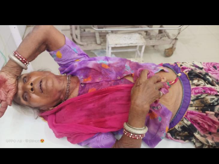 वृद्धा के गले से एक तोले सोने की रामनामी लूटी, भागते वक्त रास्ते में आए मंदिर में पुजारी के साथ मारपीट कर लूट भीलवाड़ा,Bhilwara - Dainik Bhaskar