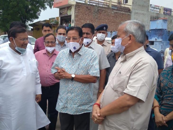 सुजान गंगा नहर को अजमेर की आनासागर झील की तर्ज पर ट्रीटमेंट करने के दिए निर्देश, पार्क में धारीवाल ने किया वृक्षारोपण भरतपुर,Bharatpur - Dainik Bhaskar