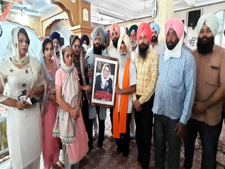 देश की 105 साल कीबुजुर्गएथलीट मान कौरके अंतिम अरदास में सरकारी अधिकारियों के न पहुंचने पर लोगों ने रोष जताया|चंडीगढ़,Chandigarh - Dainik Bhaskar