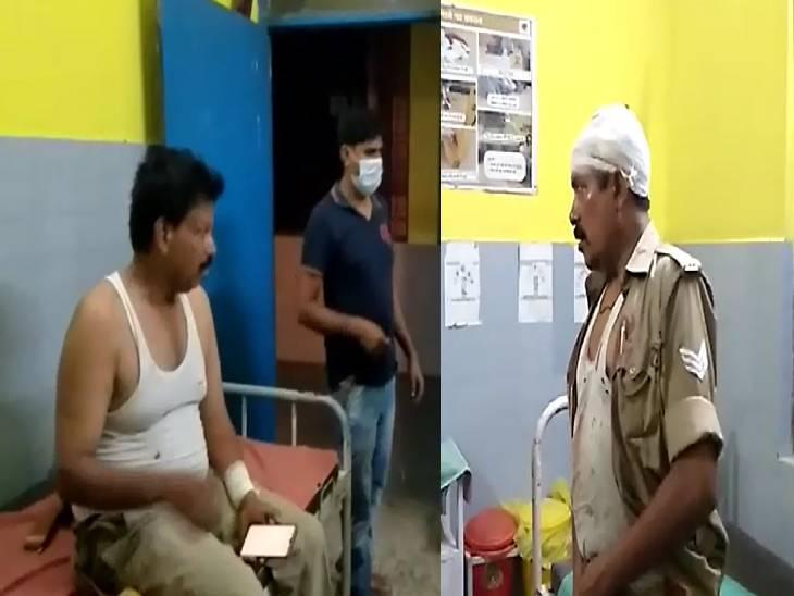 बाराबंकी में शराब बनाने वाली महिलाओं ने पुलिस वालों पर पत्थर मारकर किया उन्हें घायल। - Dainik Bhaskar