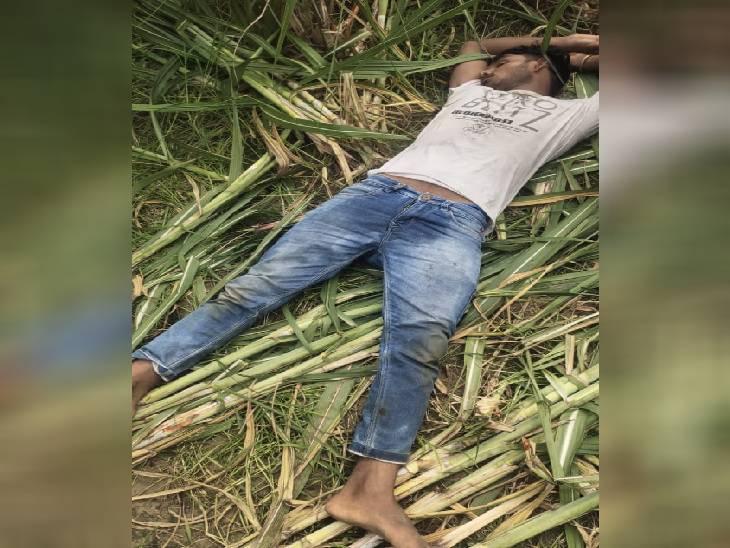संभल में पुलिस ने एनकाउंटर में गौ तस्कर को गिरफ्तार किया है। - Dainik Bhaskar