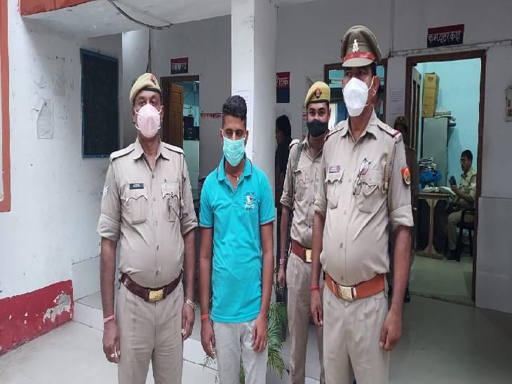 संतकबीरनगर में पुलिस ने टीजीटी की परीक्षा देते हुए एक सॉल्वर को किया गिरफ्तार। - Dainik Bhaskar