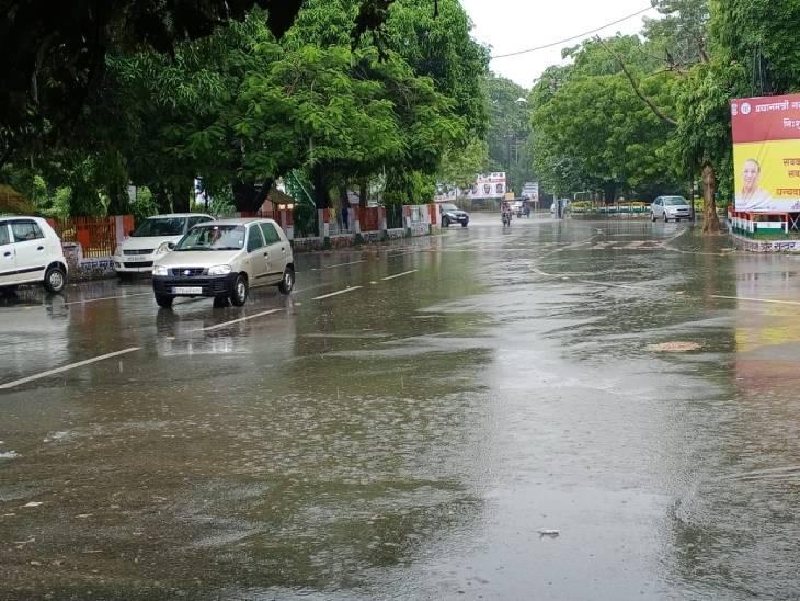 मेरठ और आसपास के जिलों में बारिश, दिल्ली मेरठ हाइवे पर भी पानी, शहर में भी जल भराव|मेरठ,Meerut - Dainik Bhaskar