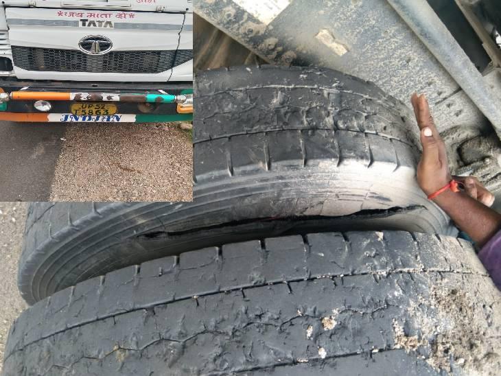 ट्रॉला खड़ा कर चाचा शौच करने गया, तभी टायर में फंसी गिट्टी निकालने लगा भतीजा, पेचकस रखते ही पहिया फटने से युवक की मौत|रीवा,Rewa - Dainik Bhaskar