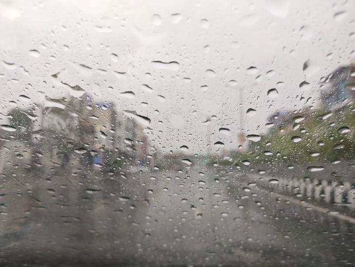 जयपुर में बारिश का नजारा।
