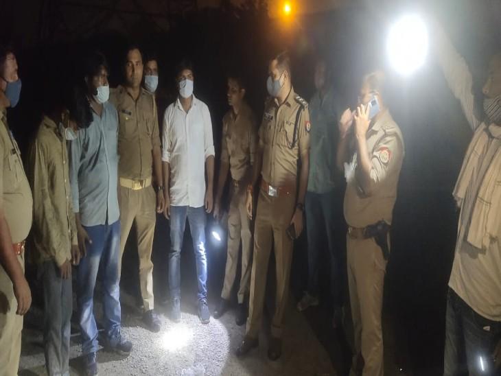 चेकिंग कर रही पुलिस की बदमाशों से मुठभेड़ हो गई। - Dainik Bhaskar